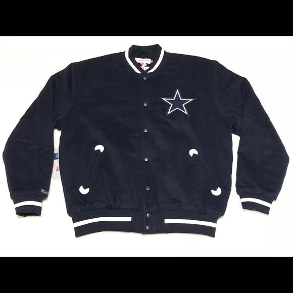 Dallas Cowboys Mitchell   Ness Wool Varsity Jacket deb7614d3